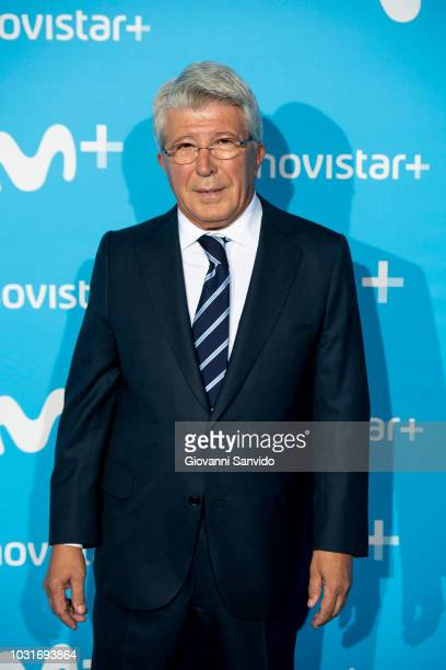 Enrique Cerezo attends Upfront Movistar Blue Carpet at Reina Sofia Museum on September 11 2018 in Madrid Spain