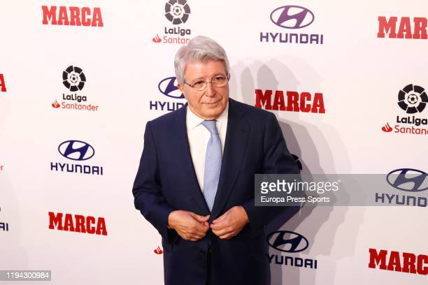 Enrique Cerezo President of Atletico de Madrid attends during the MARCA Football Awards 2019 celebrated at IFEMA on December 16 2019 in Madrid Spain