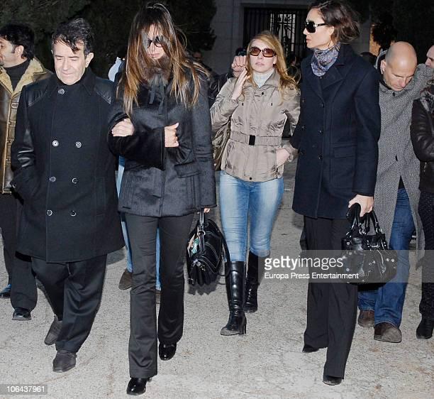 Enrique Cornejo Laura del Sol Cristina Goyanes and Juncal Rivero attend the funeral for Carla Duval sister of vedette Norma Duval at San Isidro...