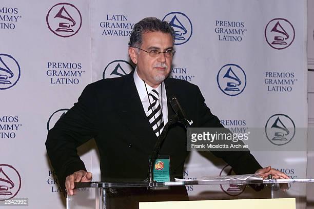 Enrique Fernandez, Senior Vice President/Executive Director, Latin Recording Academy at the press conference for the 2001 Latin Recording Academy...