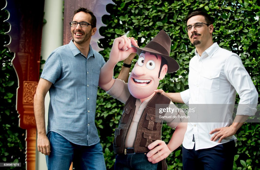 Enrique Gato and David Alonso during 'Tadeo Jones 2. El Secreto Del Rey Midas' Madrid Photocall on August 22, 2017 in Madrid, Spain.