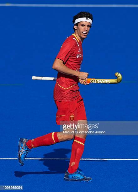 Enrique Gonzalez of Spain looks on during the Men's FIH Field Hockey Pro League match between Spain and Belgium at Polideportivo Virgel del...