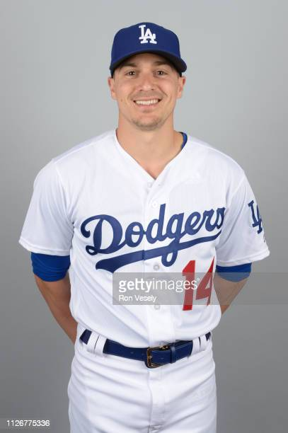 Enrique Hernandez of the Los Angeles Dodgers poses during Photo Day on Thursday February 20 2019 at Camelback Ranch in Glendale Arizona