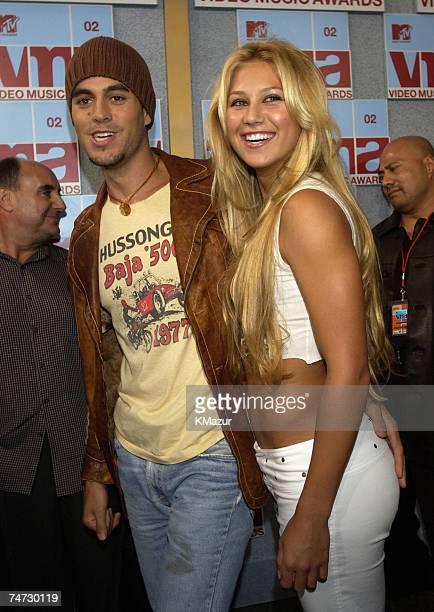 Enrique Iglesias and Anna Kournikova at the Radio City Music Hall in New York City New York