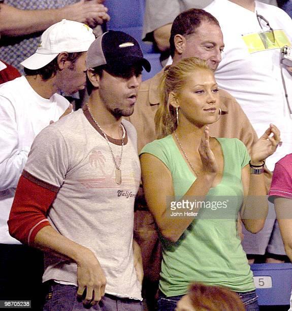 Enrique Iglesias and fiancee Anna Kournikova