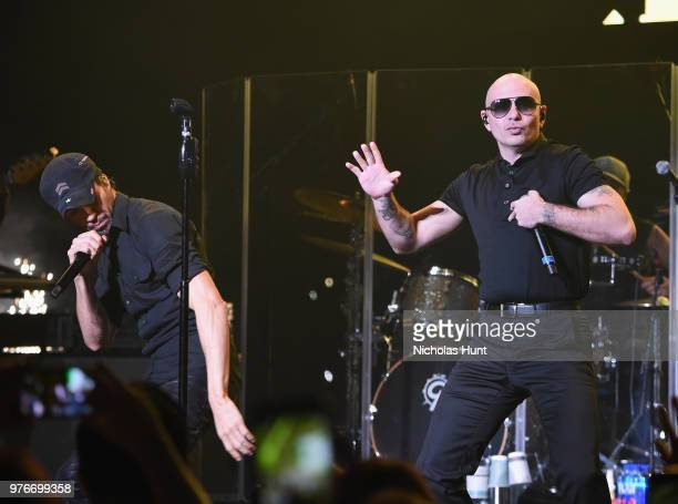 Enrique Iglesias and Pitbull perform at 1035 KTU's KTUphoria on June 16 2018 in Wantagh City