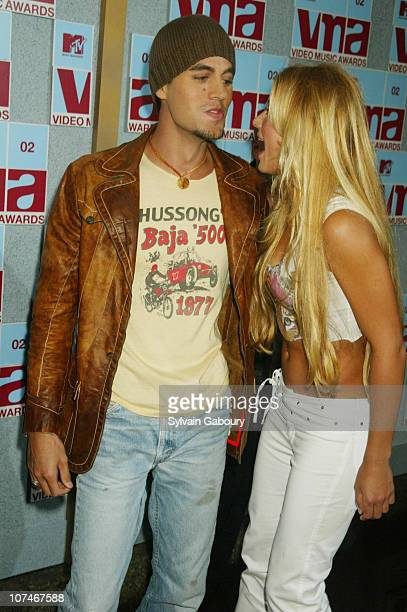 Enrique Iglesias Anna Kournikova during MTV's Video Music Awards at Radio City Music Hall in New York New York United States
