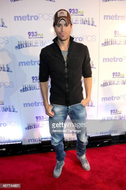 Enrique Iglesias attends 93.3 FLZ's Jingle Ball 2013 at the Tampa Bay Times Forum on December 18, 2013 in Tampa, Florida.