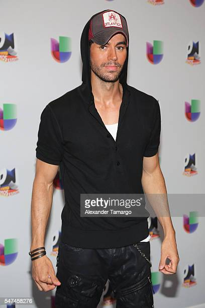 Enrique Iglesias attends the Univision's 13th Edition Of Premios Juventud Youth Awards at Bank United Center on July 14 2016 in Miami Florida