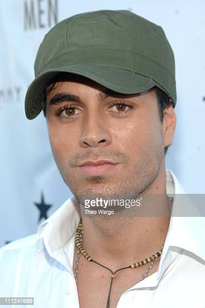 Enrique Iglesias during Enrique Iglesias and Tommy Hilfiger Launch New Fragrance 'True Star' for Men at Manhattan Heliport in New York City New York...