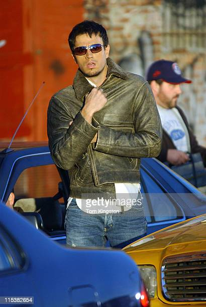 Enrique Iglesias during Enrique Iglesias on the Set of the Shoot for His Video 'Quizas' at Queens in New York City New York United States