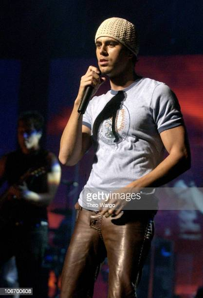 Enrique Iglesias during Enrique Iglesias Performs at the Beacon Theatre in New York City on August 18 2003 at Beacon Theatre in New York City New...