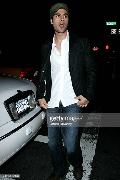 Enrique Iglesias during Enrique Iglesias Sighting In New York City May 17 2006 at Lower Manhattan in New York City New York United States