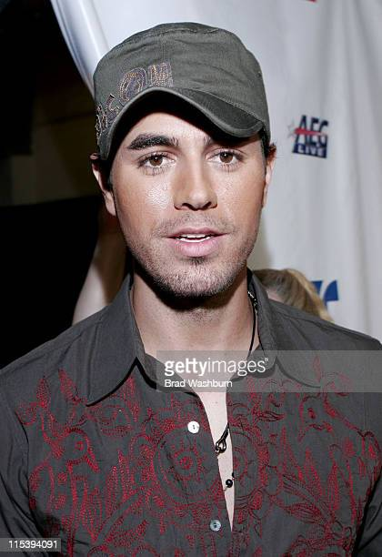 Enrique Iglesias during Una Noche de Paz at Theatre at Arrowhead Pond in Anaheim California United States