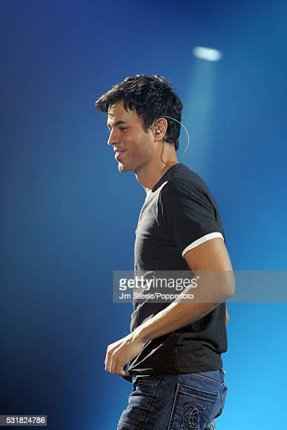 Enrique Iglesias performing on stage at Wembley Arena in London on the 9th November 2007