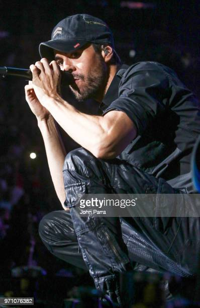 Enrique Iglesias performs at Mix Live Presented by Uforia at American Airlines Arena on June 9 2018 in Miami Florida