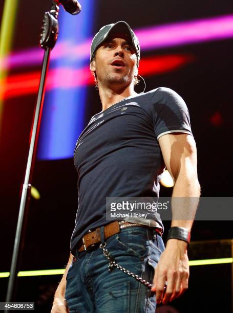 Enrique Iglesias performs at the 1035 KISS FM's Jingle Ball 2013 at United Center on December 9 2013 in Chicago Illinois