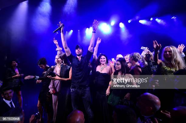 Enrique Iglesias performs at the Chopard Secret Night during the 71st annual Cannes Film Festival at Chateau de la Croix des Gardes on May 11 2018 in...