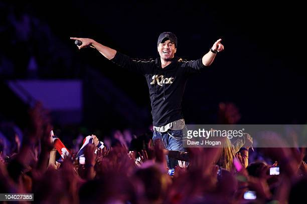 Enrique Iglesias performs at the Help The Heroes Concert 2010 held at Twickenham Stadium on September 12 2010 in London England