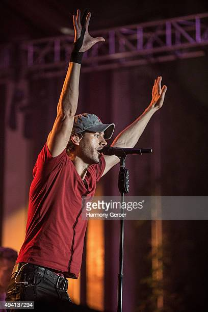 Enrique Iglesias performs at the L Festival at OC Fair and Event Center on October 24 2015 in Costa Mesa California