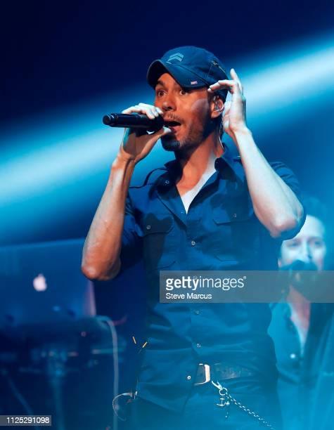 Enrique Iglesias performs during Calibash Las Vegas at TMobile Arena on January 26 2019 in Las Vegas Nevada