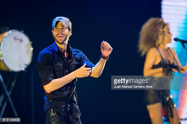 Enrique Iglesias performs in concert at at the El Sardinero stadium on July 15, 2017 in Santander, Spain.