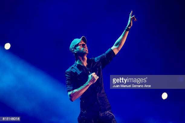 Enrique Iglesias performs in concert at at the El Sardinero stadium on July 15 2017 in Santander Spain