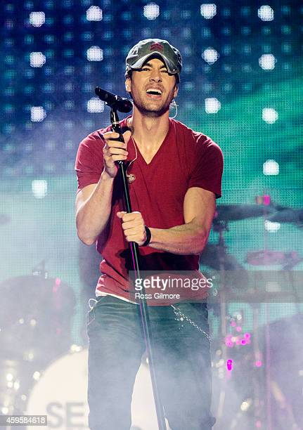 Enrique Iglesias performs on stage at The SSE Hydro on November 25 2014 in Glasgow United Kingdom