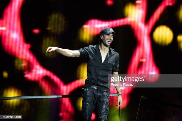 Enrique Iglesias performs on stage at The SSE Hydro on October 23, 2018 in Glasgow, Scotland.