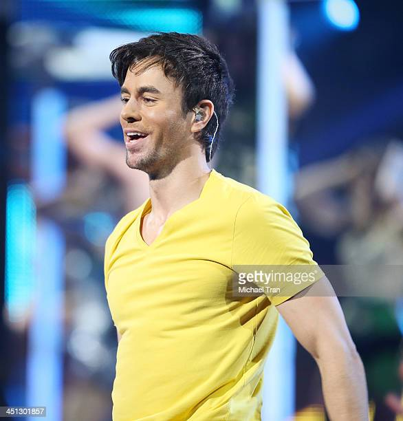 Enrique Iglesias performs onstage during the 14th Annual Latin GRAMMY Awards held at Mandalay Bay Resort and Casino on November 21 2013 in Las Vegas...