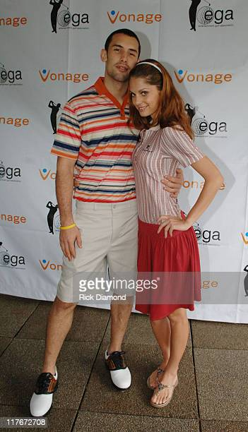 Enrique Miron and Madelda Kaniova during Entertainment Golf Association's 4th Annual Celebrity Golf Tournament Presented by Vonage at Minisceongo...