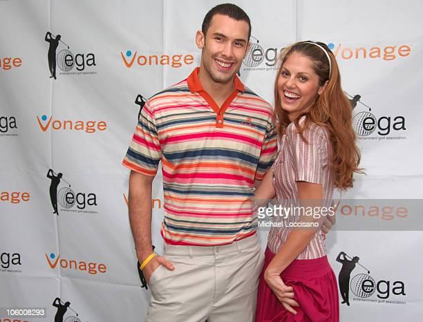 Enrique Miron and Madlena Kalinova during Entertainmamt Golf Association's 4th Annual Celebrity Golf Tournament at Minisceongo Golf Club in Pomona,...
