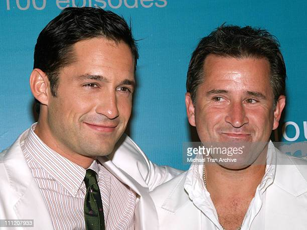 Enrique Murciano and Anthony LaPaglia during 'Without A Trace' Celebrate Their 100th Episode Party Arrivals at Cabana Club in Hollywood California...