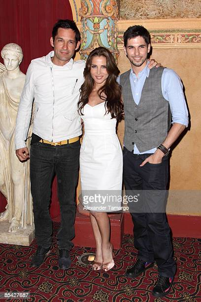 Enrique Murciano Elsa Pataky and Jason Day arrive at the screening of Mancora at Gusman Center for the Performing Arts on March 13 2009 in Miami