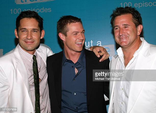 Enrique Murciano Eric Close and Anthony LaPaglia during 'Without A Trace' Celebrate Their 100th Episode Party Arrivals at Cabana Club in Hollywood...