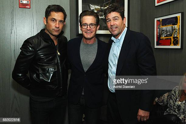 Enrique Murciano Kyle MacLachlan and Kyle Chandler attend the 2016 Gersh Upfronts Party at the Gordon Bar at 60 Thompson on May 17 2016 in New York...