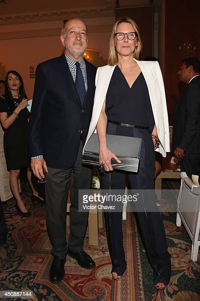 Enrique Norten and Sarah Gore Reeves attend the Vogue Mexico Who's on Next The Vogue Fashion Fund 2nd edition at Centro Gallego on June 18, 2014 in...