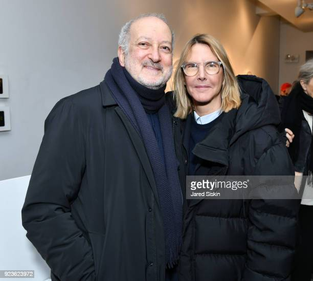 Enrique Norten and Sarah GoreReeves attend Rachel Lee Hovnanian 'The Women's Trilogy Project' Part 1 NDD Immersion Room at Leila Heller Gallery on...
