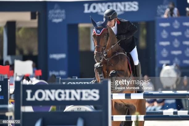 Enrique of Mexico riding CHACNA during the Longines Grand Prix Athina Onassis Horse Show on June 3 2017 in St Tropez France