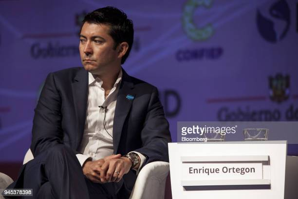 Enrique Ortegon senior vice president for Latin America at Salesforcecom Inc listens during the CEO Summit of the Americas in Lima Peru on Thursday...