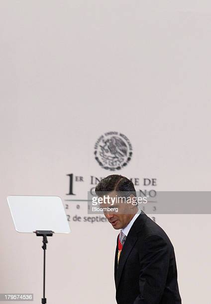 Enrique Pena Nieto Mexico's president arrives to give his first state of the nation address in Mexico City Mexico on Monday Sept 2 2013 Pena Nieto...