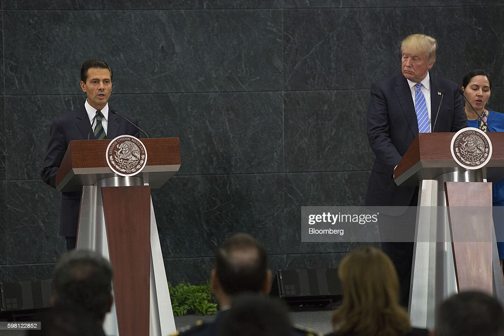 Trump Heads to Mexico Looking to Shake Up U.S. Presidential Race : News Photo