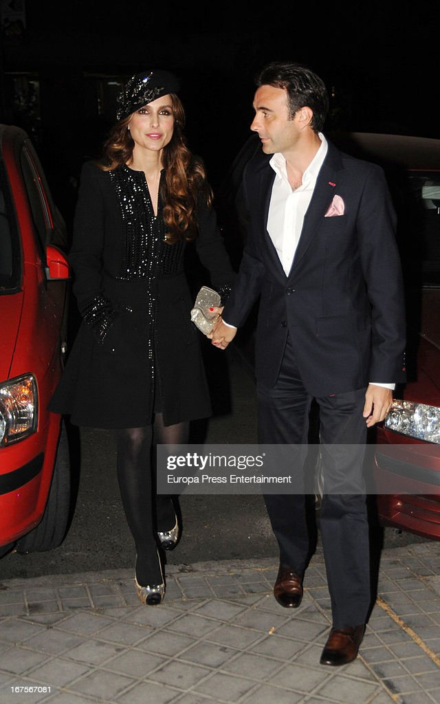 Enrique Ponce and his wife Paloma Cuevas are seen on April 25, 2013 in Madrid, Spain.