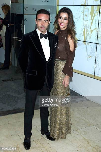 Enrique Ponce and Paloma Cuevas attend a dinner in honour of 'Mariano de Cavia' 'Mingote' and 'Luca de Tena' awards winners at ABC on December 13...