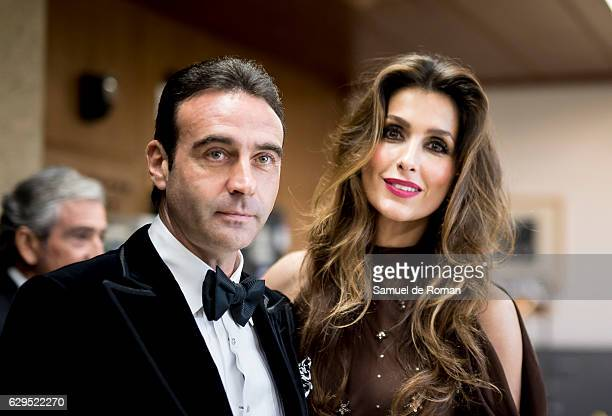 Enrique Ponce and Paloma Cuevas attend an official dinner with 'Mariano De Cavia', Luca De Tena' and 'Mingote' Award's Winners on December 13, 2016...