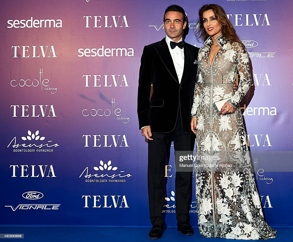 Enrique Ponce and Paloma Cuevas attend Arts, Sciences and Sports Telva Awards 2015 at Palau de Les Arts Reina Sofia on October 15, 2015 in Valencia, Spain.