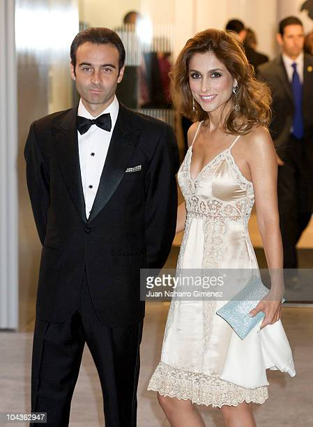 Enrique Ponce and Paloma Cuevas attend dinner at ABC Museum on September 22, 2010 in Madrid, Spain.