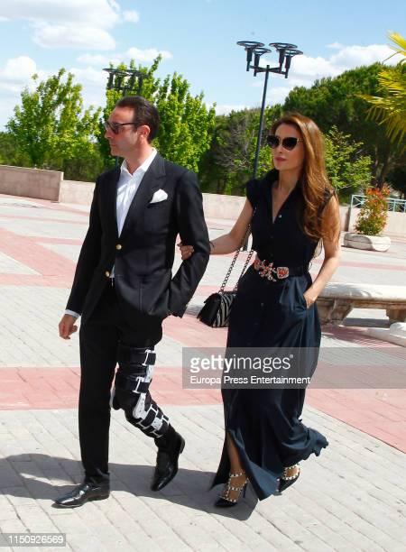 Enrique Ponce and Paloma Cuevas attend Fernando Domeqc funeral chapel at Tanatorio de La Paz on May 21, 2019 in Madrid, Spain.