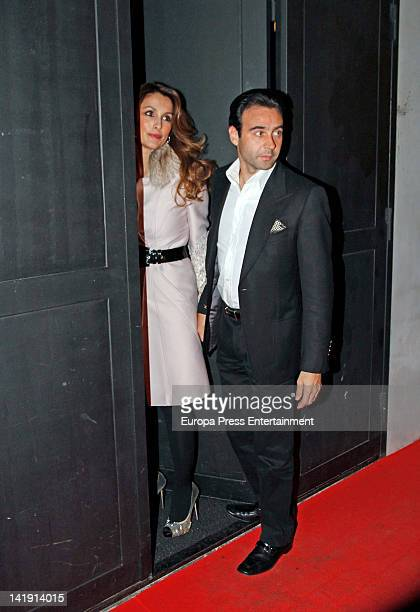Enrique Ponce and Paloma Cuevas attend Patricia Cerezo's 40th birthday party on March 23 2012 in Madrid Spain
