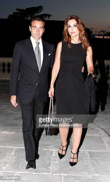 Enrique Ponce and Paloma Cuevas attend the memorial service for Prince Kardam of Bulgaria at San Jeronimo el Real church on June 8, 2015 in Madrid,...